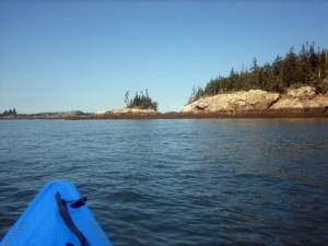 Kayaking around Frye Island