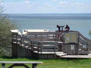 The viewing deck at Herring Cove