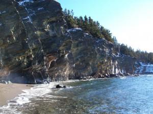 Cliffs at Sandy Cove, Nova Scotia